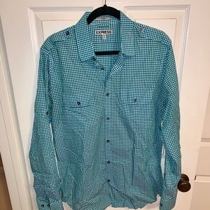Express Gingham Button Down
